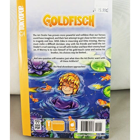 Back cover of Goldfisch volume 3. Manga by Nana Yaa
