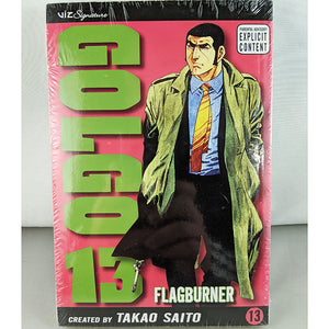 Front cover of Golgo 13 Volume 13. Manga by Takao Saito