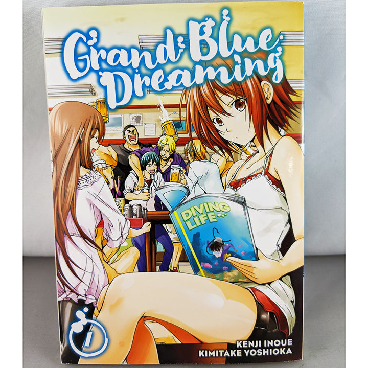 Front cover of Grand Blue Dreaming Volume 1. Manga by Kenji Inoue Kimitake Yoshioka