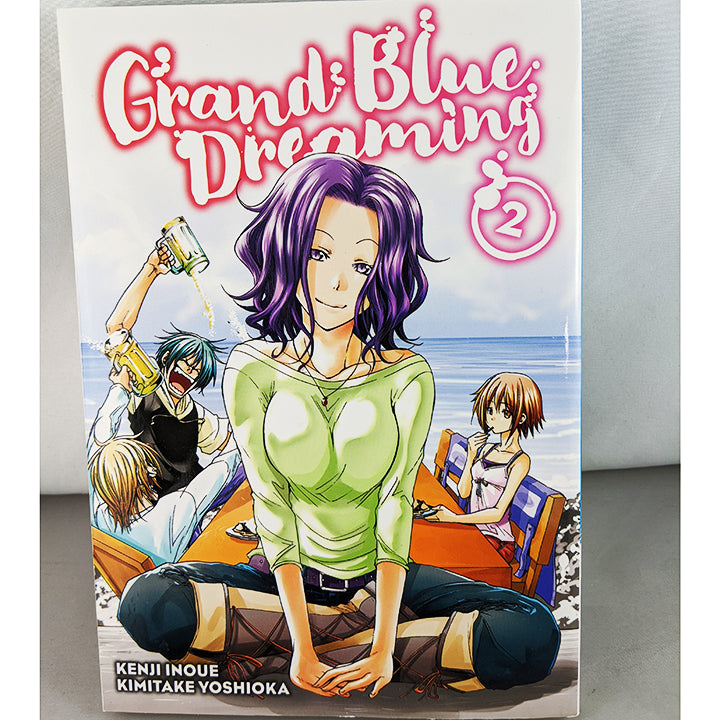 Front cover of Grand Blue Dreaming Volume 2. Manga by Kenji Inoue Kimitake Yoshioka