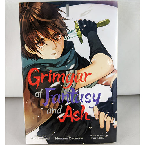 Front cover of Grimgar of Fantasy and Ash volume 1. Manga by Ao Jūmonji.
