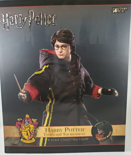 Harry Potter Goblet of Fire 1:8 Harry Triwizard C with Light Up Wand Version Figure