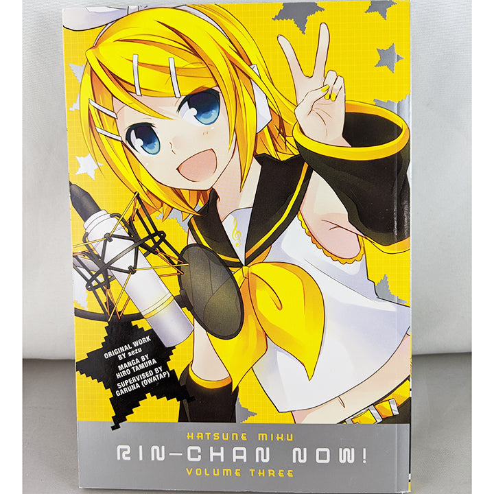 Front cover of Hatsune Miku: Rin-Chan Now! Volume 3. Manga by Sezu, Hiro Tamura and Garuna (Owatap)