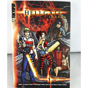 Front cover of Hellgate London Volume 1. Manga by Arvid Nelson JM