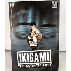 Front cover of Ikigami The Ultimate Limit Volume 10 Final Volume. Manga by Motoro Mase.
