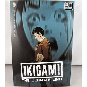 Front cover of Ikigami The Ultimate Limit Volume 9. Manga by Motoro Mase.