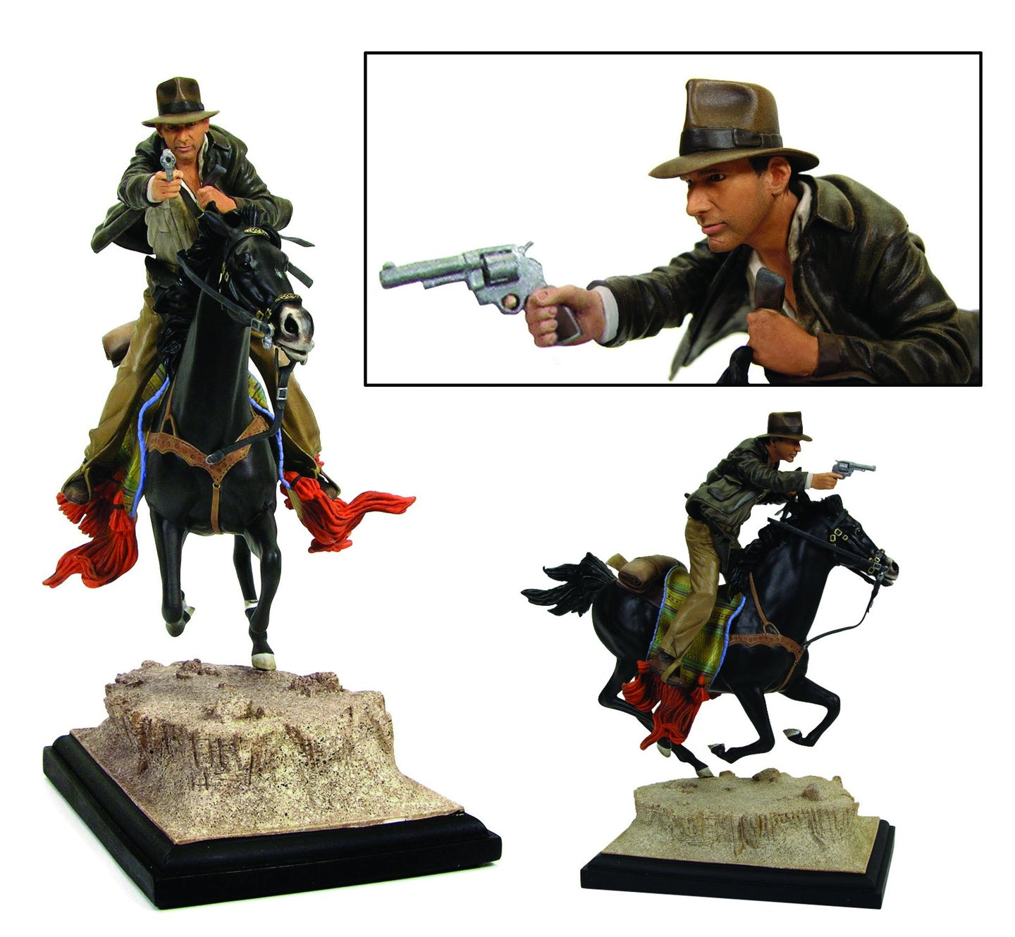 Indiana Jones On Horseback Statue