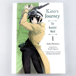 Kino's Journey The Beautiful World Manga volume 1. Manga by Iruka Shiomiya. Original Story by Keiichi Sigsawa. Original Character Design by Kouhaku Kuroboshi.