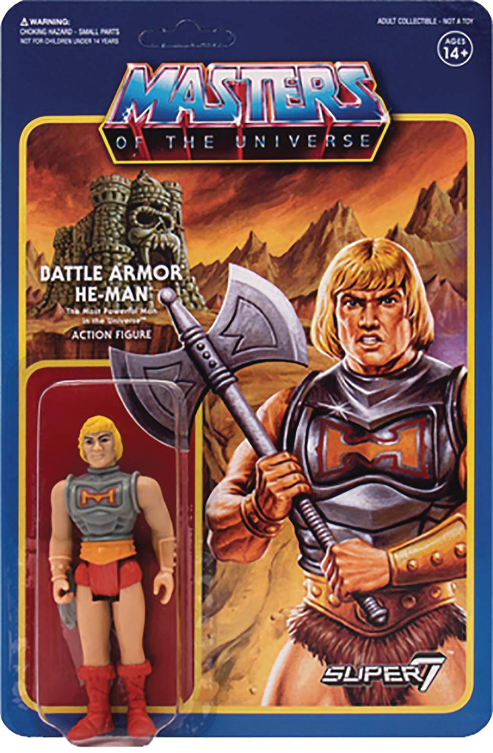 Masters Of The Universe Battle Armor He-Man Reaction Figure
