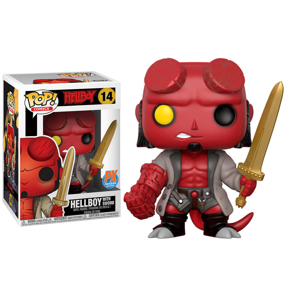 Hellboy w/ Excalibur POP Figure