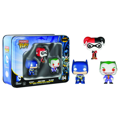 harley batman joker POP tin set