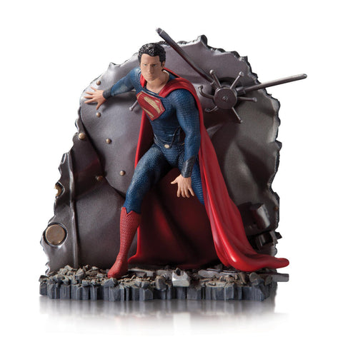 man of steel superman resin statue