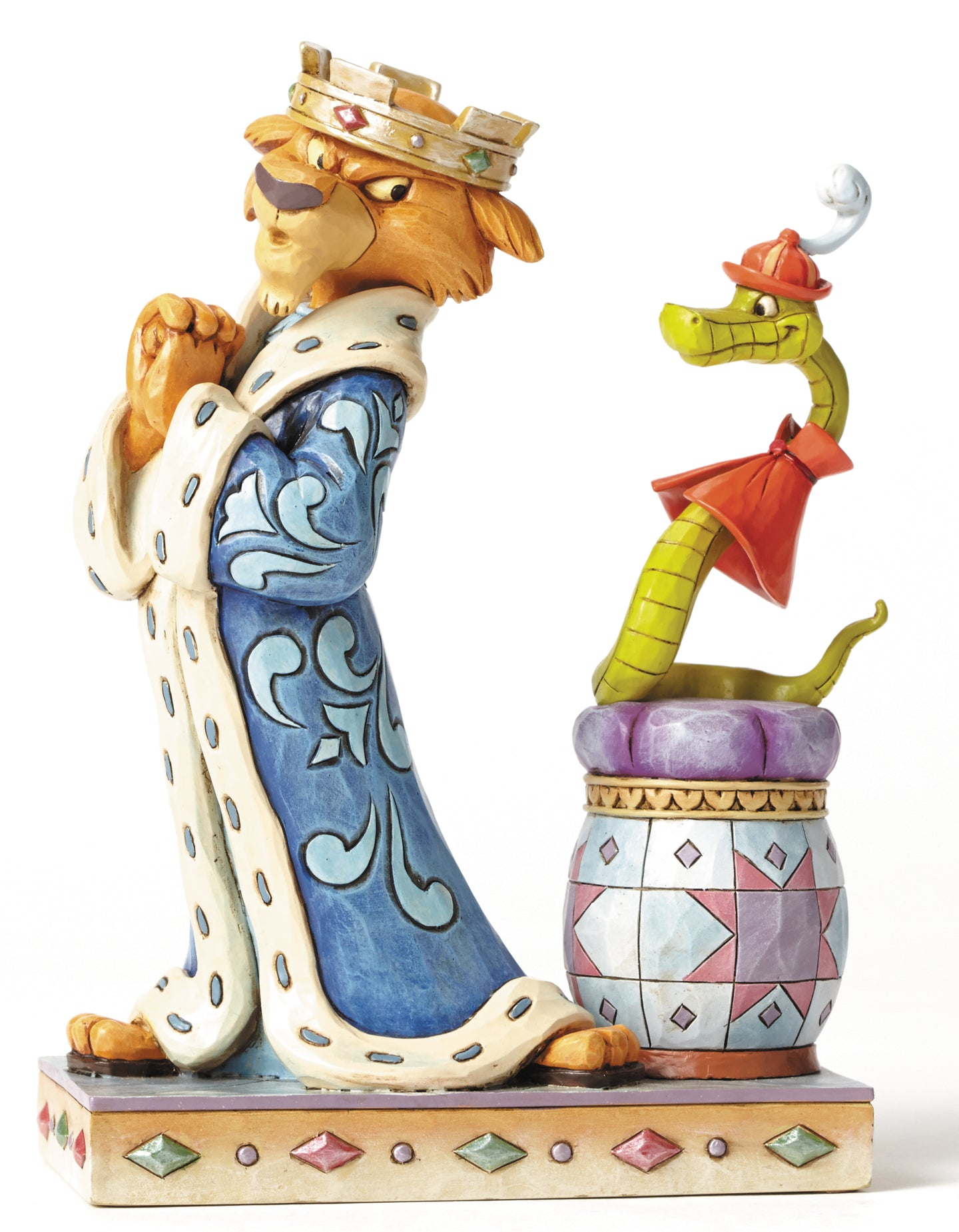 Disney Traditions Prince John and Sir Hiss Resin Statue