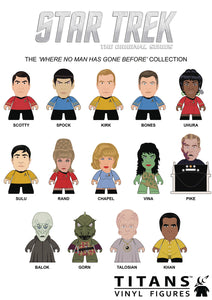 Star Trek TOS Titans Mystery Blind Box 3 Inch Mini PVC Figures Series 1