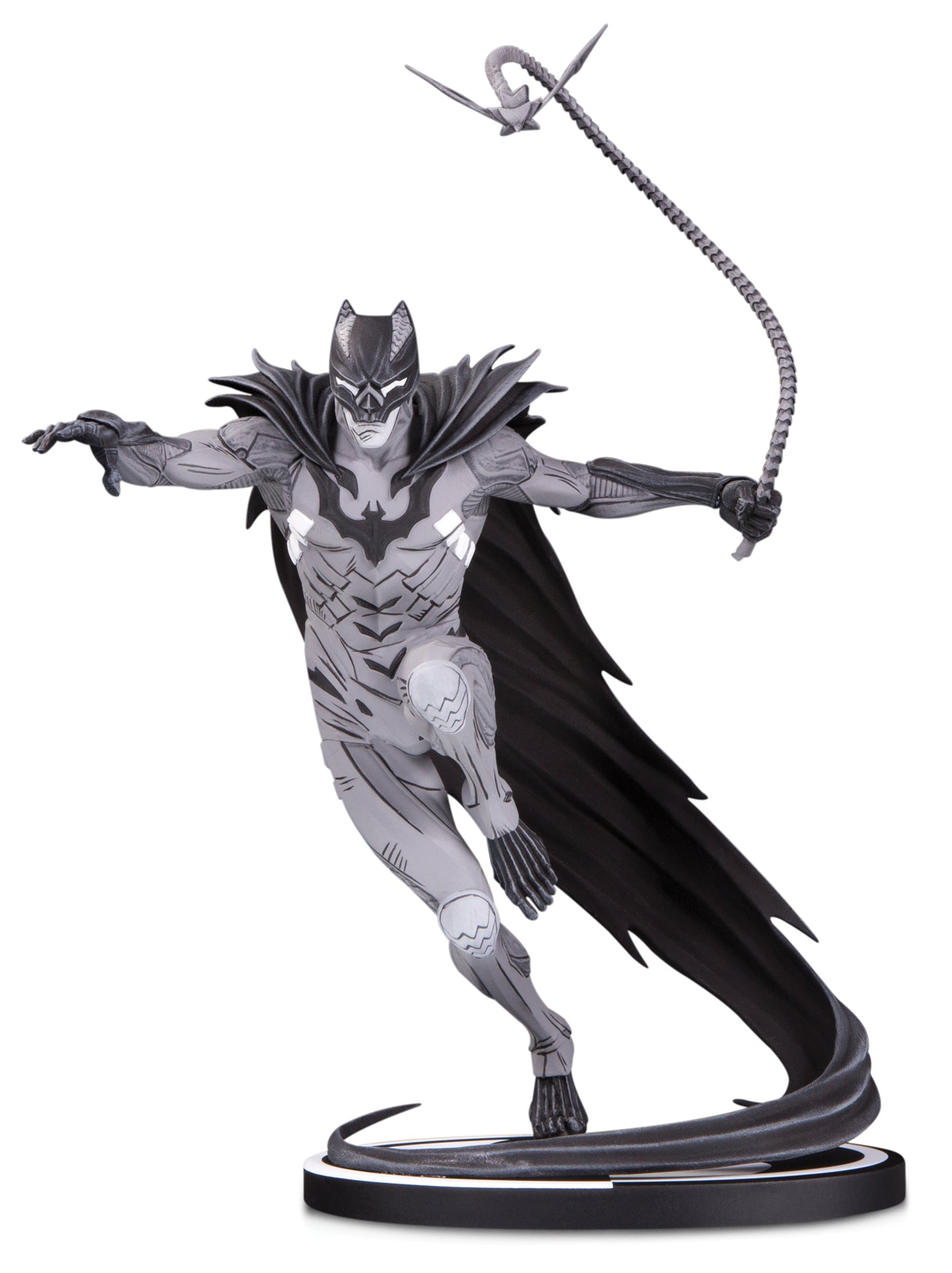 batman black and white rocafort statue