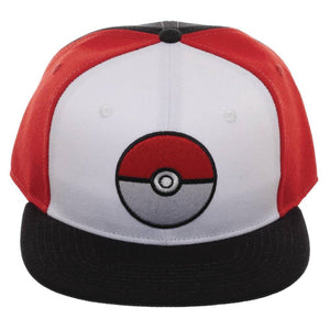 Pokemon Pokeball Colorblock Snapback Fabric Cap