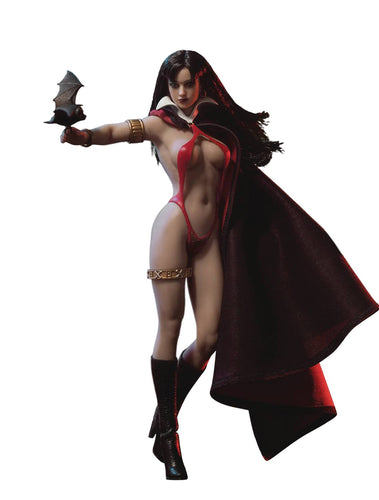 Vampirella 1/12 (6 Inch tall) Scale Figure with metal skeleton frame, cape, bikini, boots and bat
