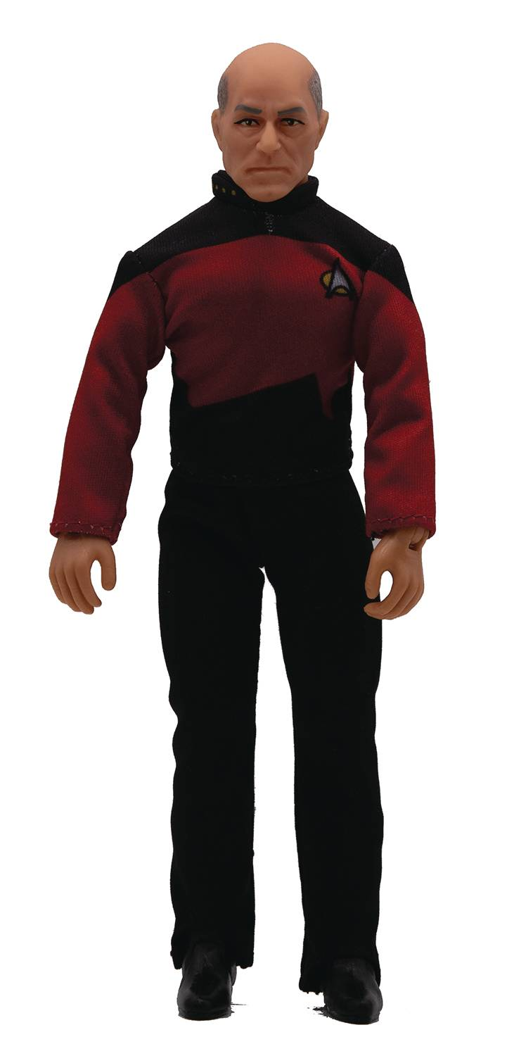 Mego Sci-Fi Star Trek TNG Captain Jean Luc Picard 8 Inch Articulated Action Figure with fabric clothing