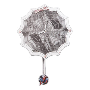 Marvel Spider-Man Web Shaped Decoupage Wall Clock