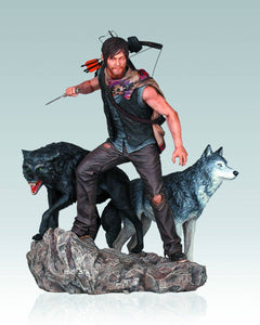 Walking Dead TV Daryl & The Wolves 1:8 Resin Statue