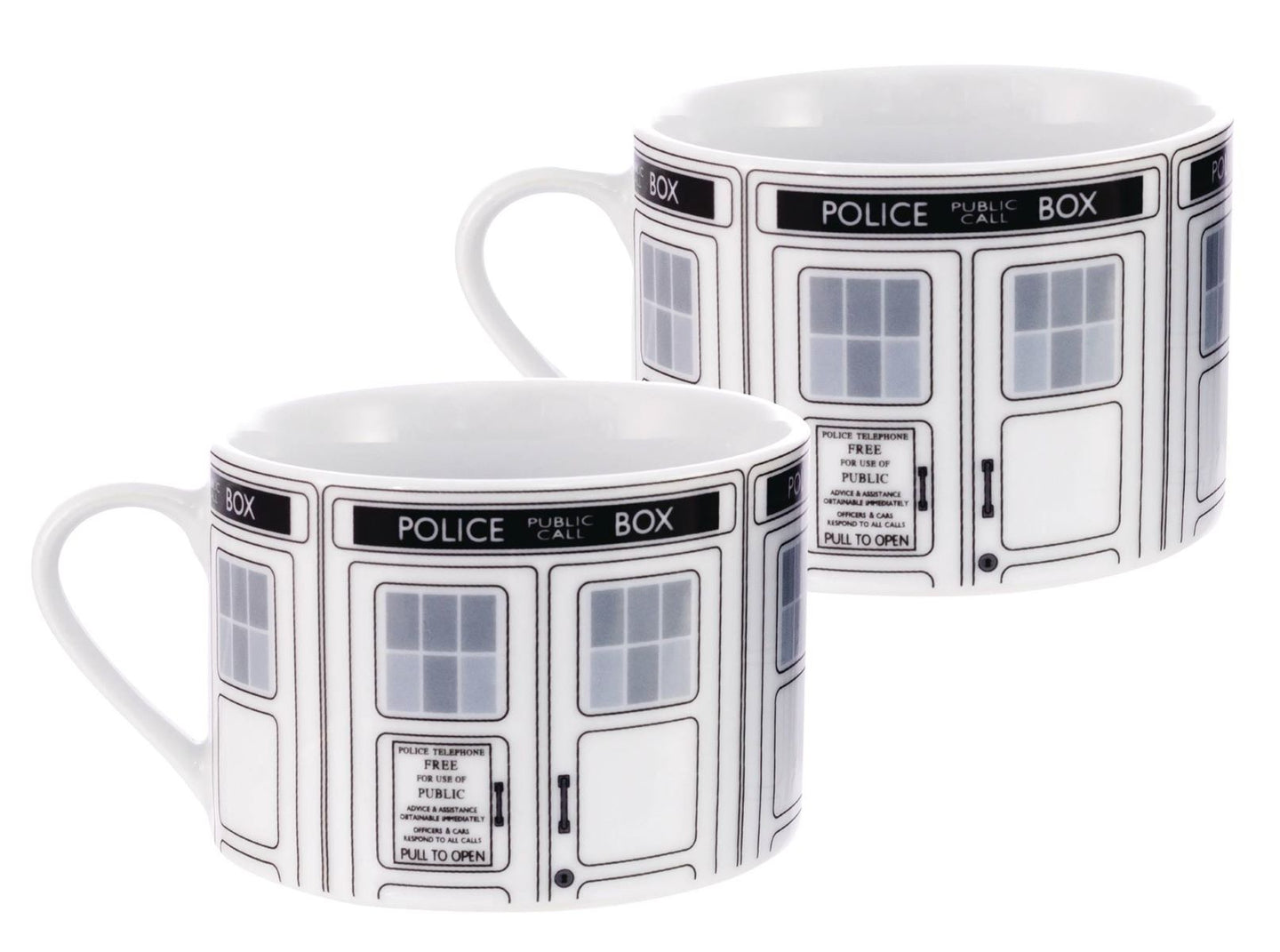 Doctor Who I Am Tardis Ceramic Tea Cup Set