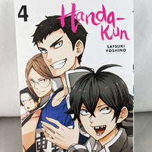 Front cover of Handa-Kun Volume 4. Manga by Satsuki Yoshino