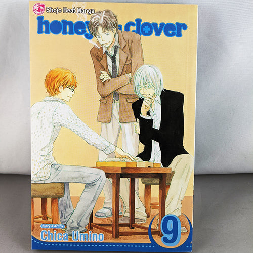 Front cover of Honey and Clover Volume 9. Manga by Chica Umino.