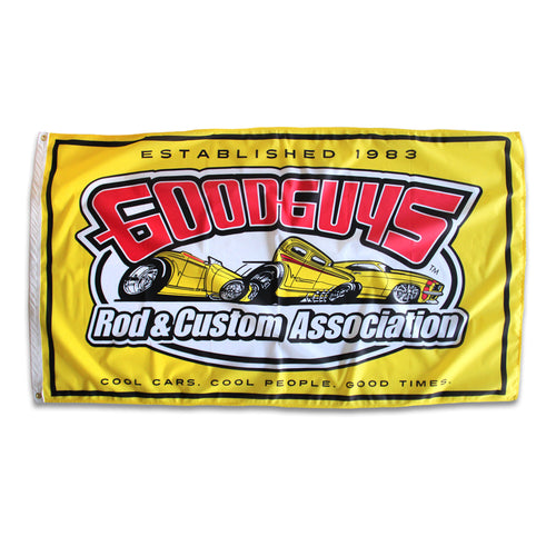 TRI LOGO FLAG-Novelties-Shop Goodguys
