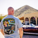 2018 men's woody wagon pinup graphic T-shirt - back