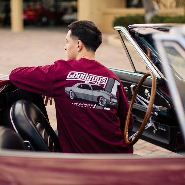 2018 men's long sleeve ss '67 camaro T-shirt - back
