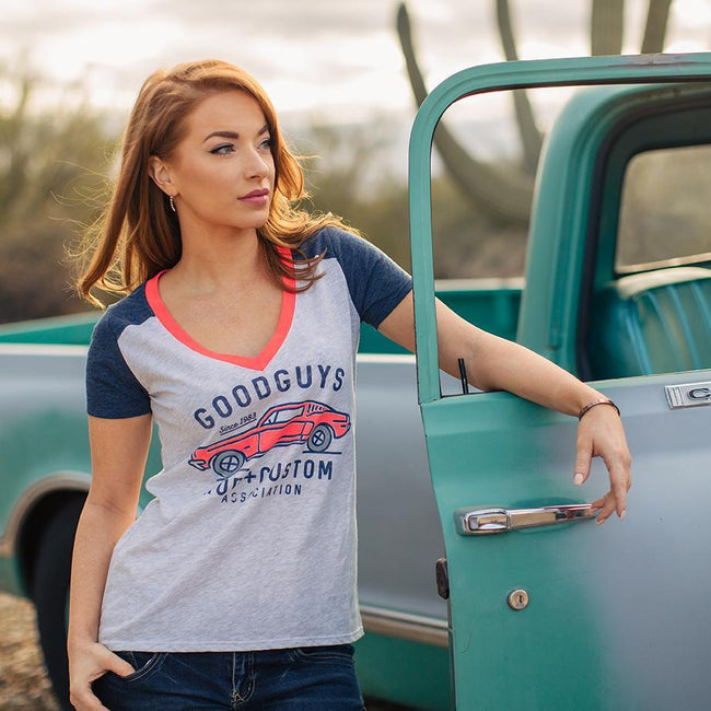 2018 women's rod & custom sequal v-neck T-shirt - back