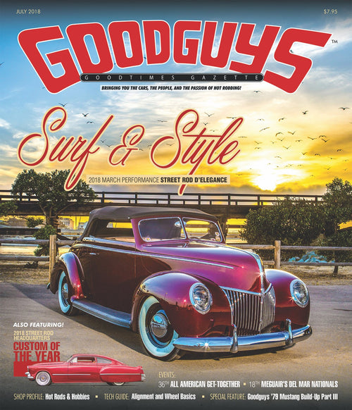 2018 july Goodguys goodtimes gazette - front
