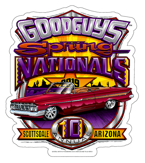2019 SPRING NATIONALS STICKER-Novelties-Shop Goodguys