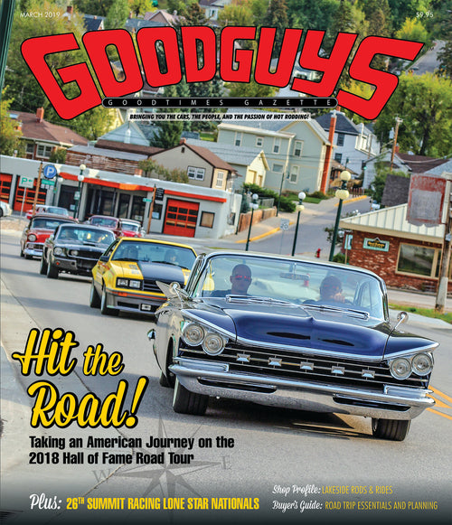 MARCH 2019 GOODGUYS GOODTIMES GAZETTE-Novelties-Shop Goodguys