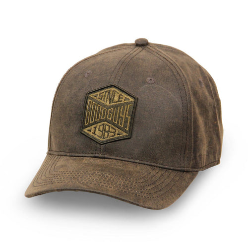 2018 youth embroidered brown canvas hat - front