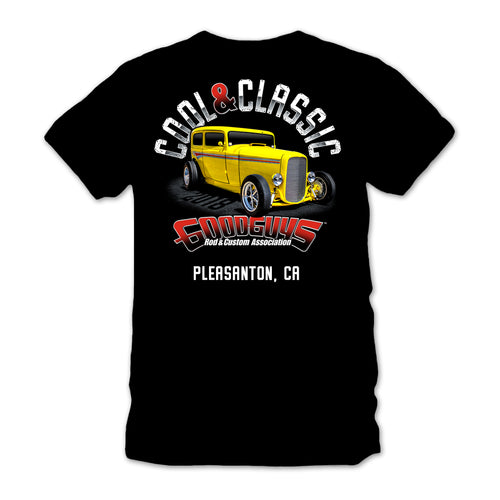 goodguys autumn 2018 get together pleasanton cool & classic black t-shirt - front