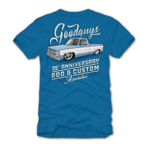 35th Anniversary Men's 85 C-10 Truck Graphic T-Shirt - Back