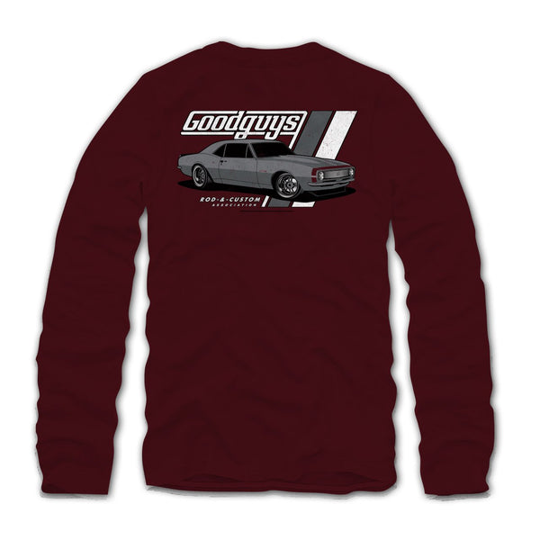 2018 men's long sleeve ss '67 camaro T-shirt - front