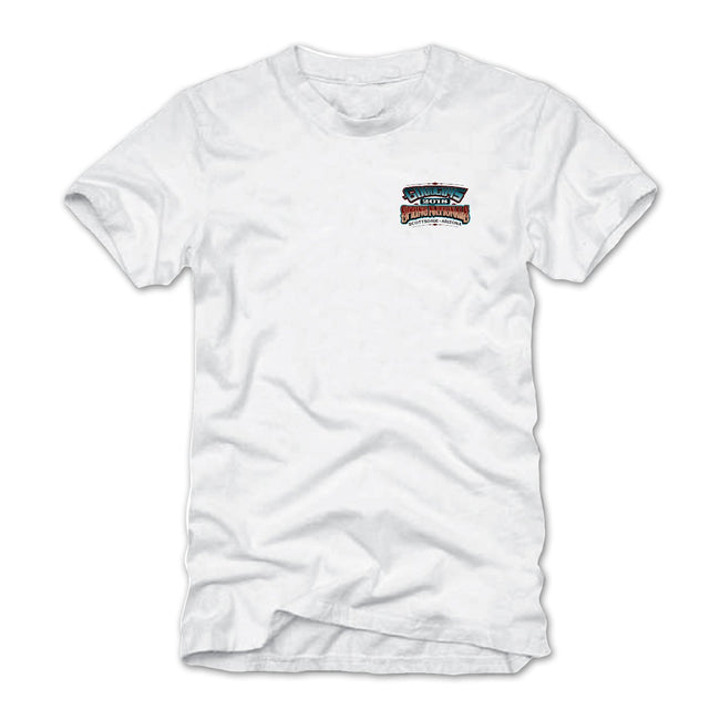 2018 spring nationals scottsdale white T-shirt - back