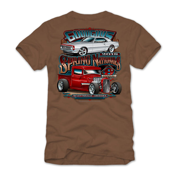 2018 spring nationals scottsdale brown T-shirt - front