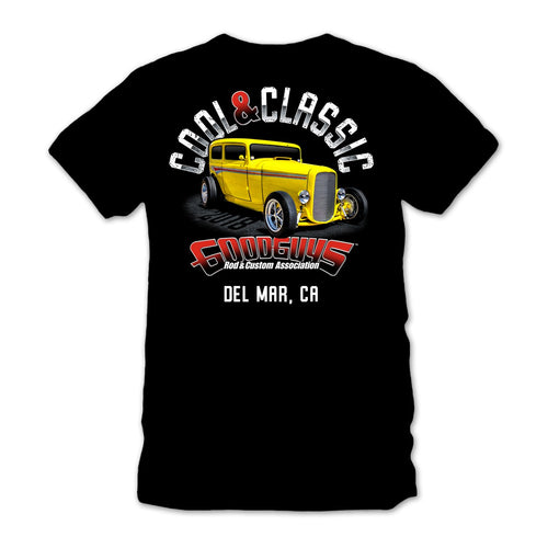2018 del mar nationals cool & classic black T-shirt - front