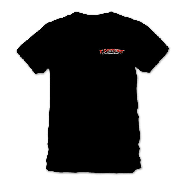 2018 del mar nationals cool & classic black T-shirt - back