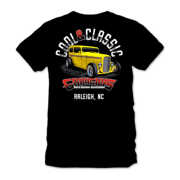2018 north carolina nationals raleigh cool & classic black T-shirt - front