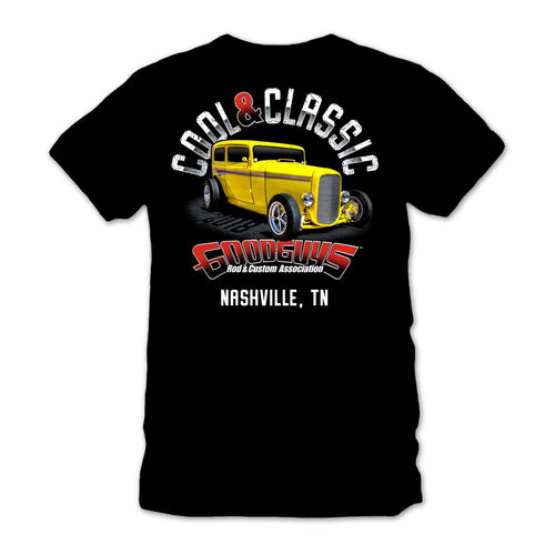 2018 nashville nationals cool & classic black T-shirt - front