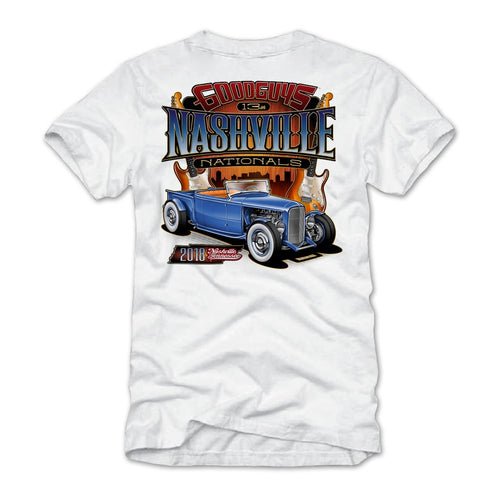 2018 nashville nationals white T-shirt - front