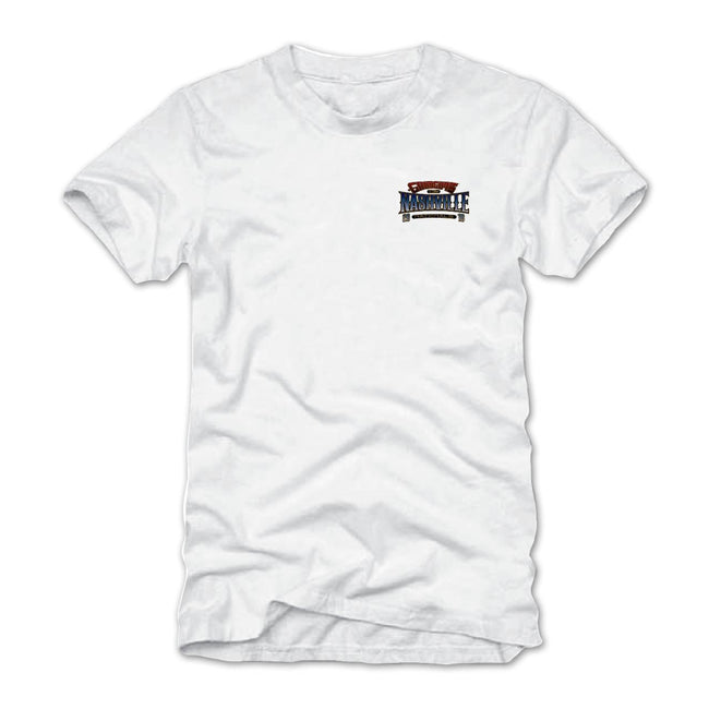 2018 nashville nationals white T-shirt - back
