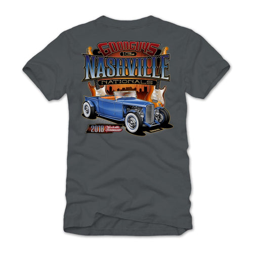 2018 nashville nationals gray T-shirt - front