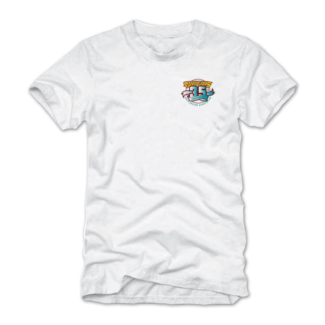 2018 summer get together pleasanton white T-shirt - back