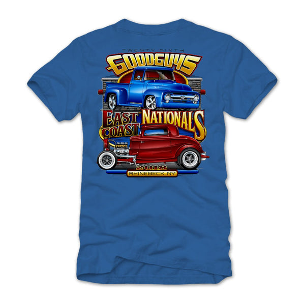 2018 east coast nationals rhinebeck blue T-shirt - front