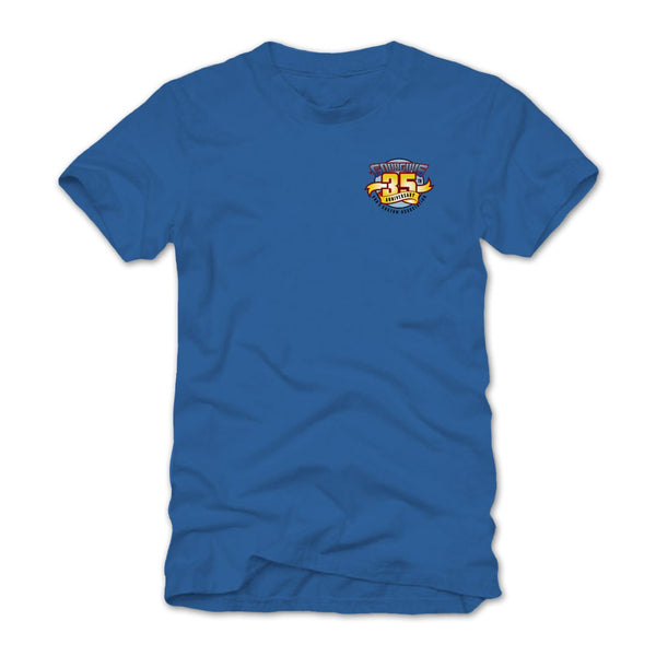2018 east coast nationals rhinebeck blue T-shirt - back